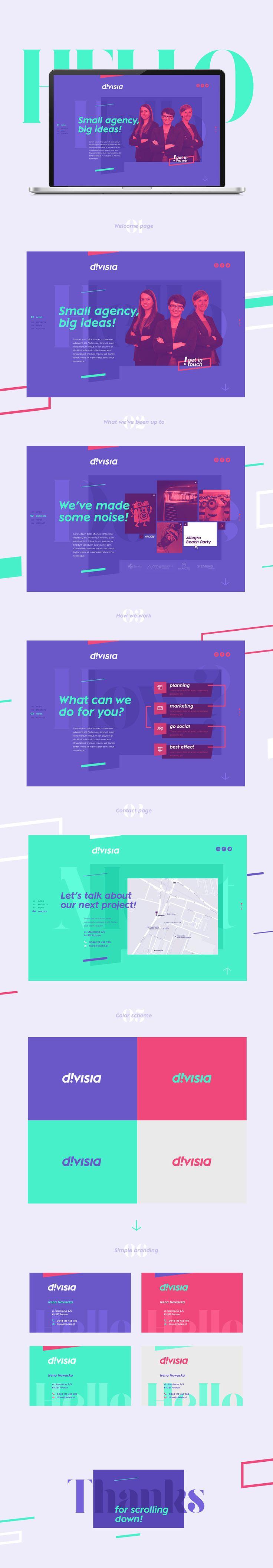D!visia event agency | webdesign & branding on Behance