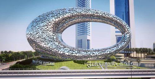 Futuristic Architecture, Dubai, Museum of the Future, year 2017, Future City, UAE, Future Architecture, Sheikh Mohammed bin Rashid