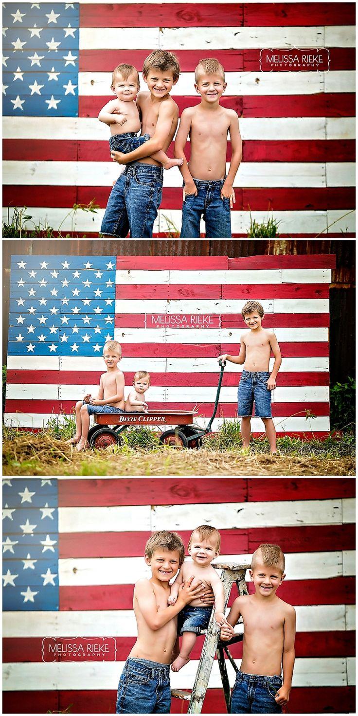 Vintage Americana - Melissa Rieke Photography - Kansas City Photographer - Flag - Forth of July - Children