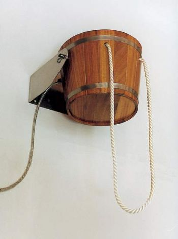 ▼ Kambala Wood Drench Bucket Shower