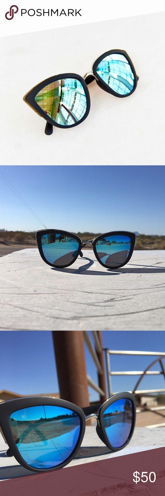 Quay sunglasses My girl blue mirrored ring quay glasses with case Quay Australia Accessories Sunglasses