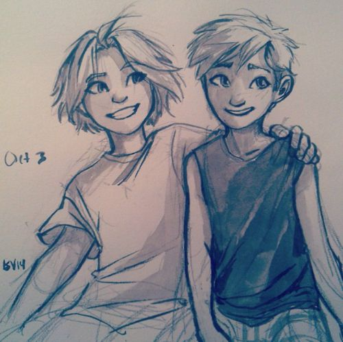 Ed and Al by burdge . Character Sketch / Drawing Illustration Inspiration