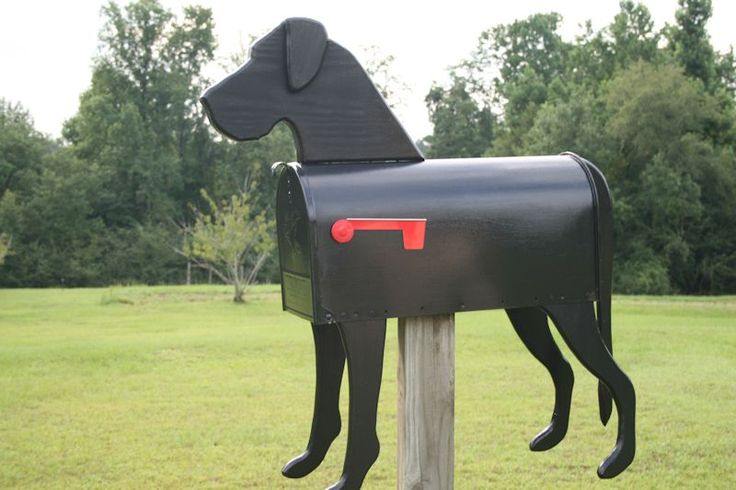 Dog Novelty Mailbox - don't you love the Black Great Dane with Natural Ears?!