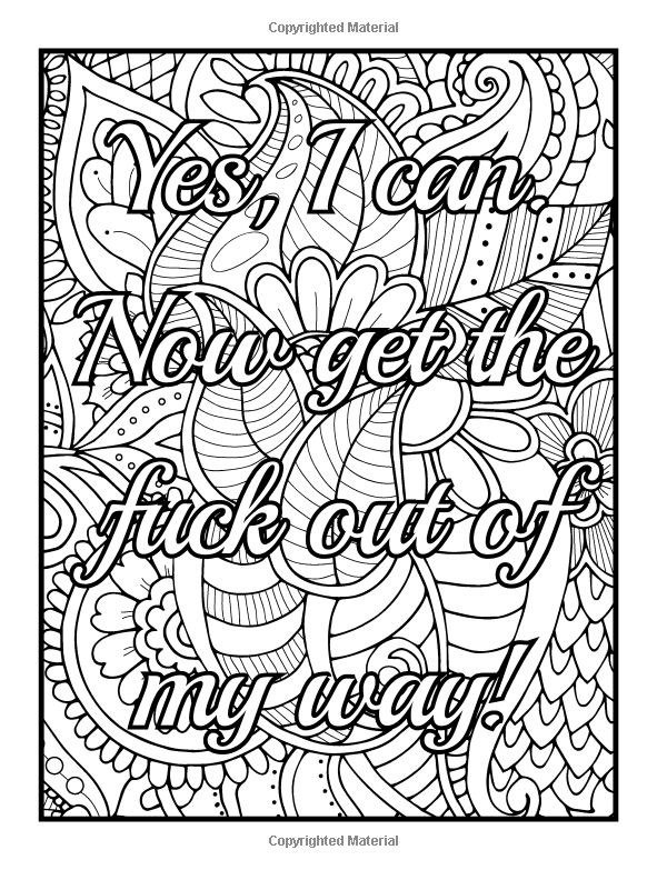 adult coloring pages inspirational quotes | 55 best images about swear words to color on Pinterest