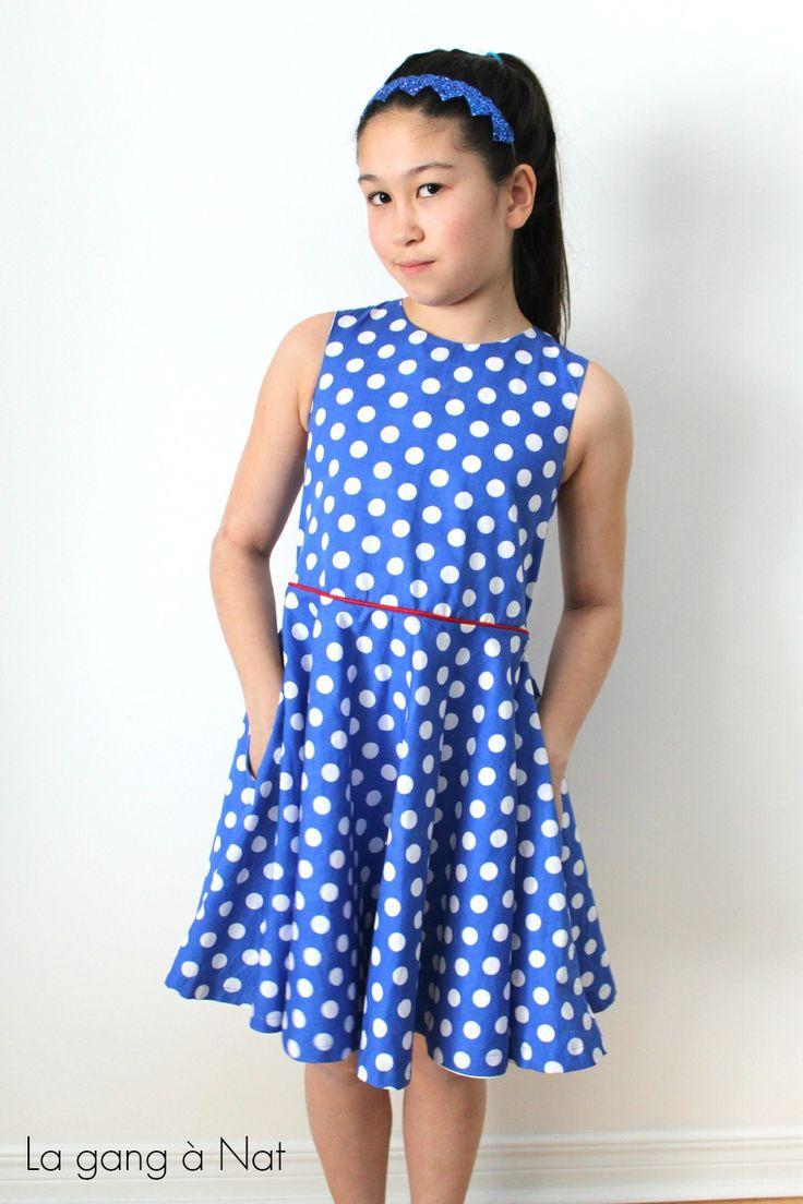 The dress designs - Tween Polkadot Circle Dress Tutorial On La Gang A Nat