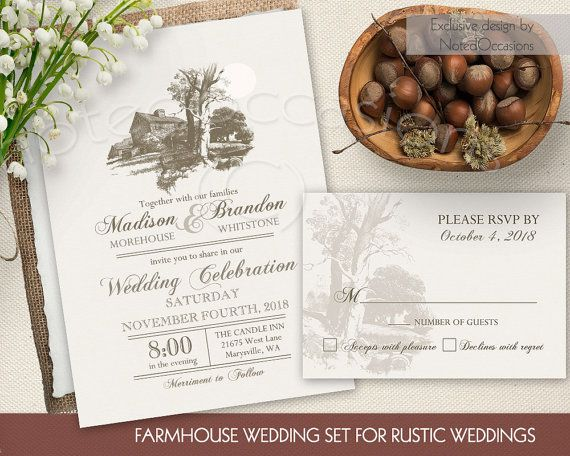 Rustic Barn Wedding Invitation Suite Country Southern