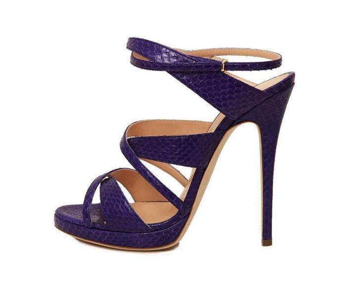 Scarpe Tacco Viola