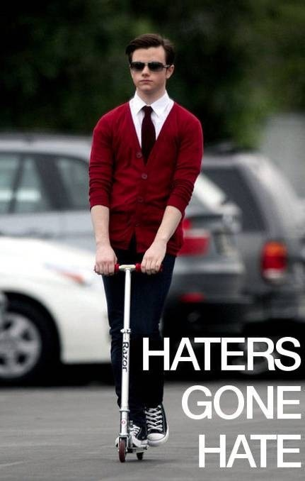 Haters gone hate! XD  Sophia showed this to me!