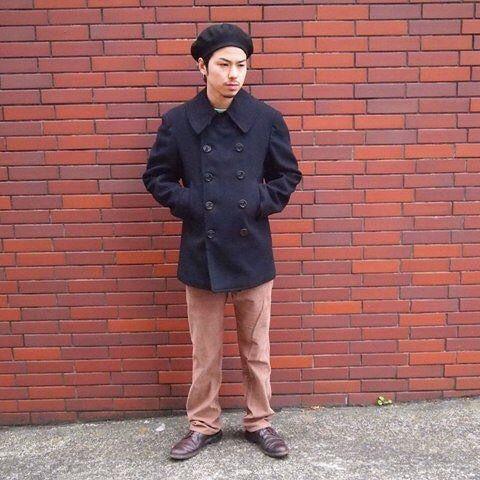 2016/12/02 17:33:28 shimodaayumi ◆メンズオススメコーディネイト◆ 王道のアウターP-コートにデニムではなくコーデュロイパンツを合わせたスタイル。 足元はオールデンを履いて引き締めています。 被りモノにベレー帽を持ってくるとグッと今年らしいですね!!☺︎ #古着#祐天寺#arheologie#ピーコート#王道#コーデュロイ#ベレー帽#オールデン