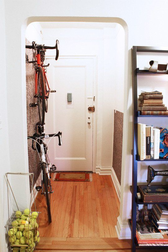Keep bikes out of the way: Those big, clunky things might be necessary for your morning commute or exercise routine, but storage is an issue if you don't have a garage — until you install vertical hangers so you can arrange them on an unused hallway wall.