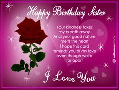 Happy Birthday Wanda!!  I wish you much happiness and joy on your special day!  Love You, your big sister Yolanda