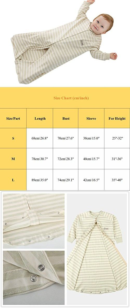 Luyusbaby SleepSack Long Sleeves 100% Cotton Straddle Wearable Blanket Zipper