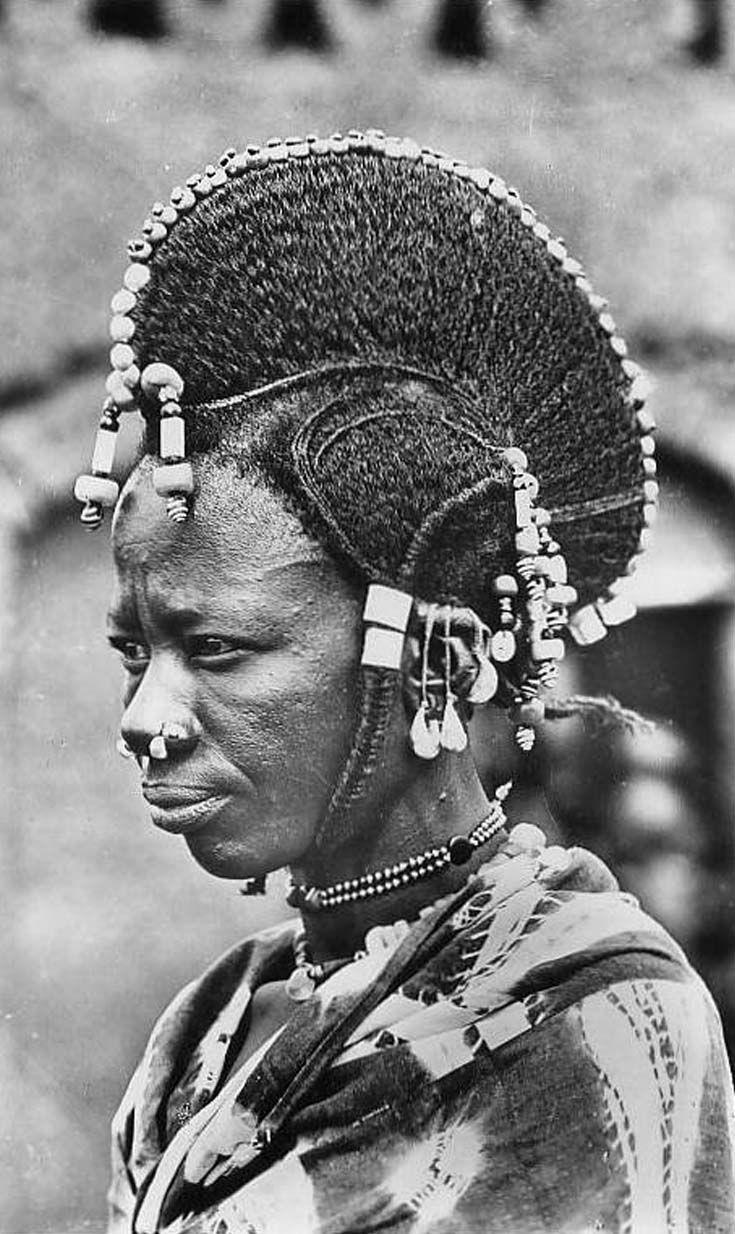africa coiffure de femme peule niger vintage. Black Bedroom Furniture Sets. Home Design Ideas