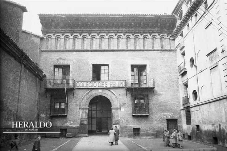 Antiguo colegio de San Felipe, en la actualidad es el Museo Pablo Gargallo   Fotos antiguas de Heraldo