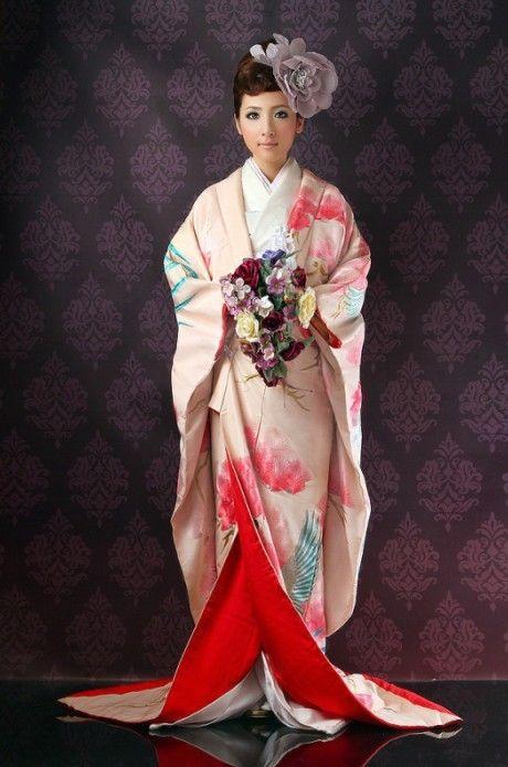 Japanese wedding kimono, called 'uchikake'