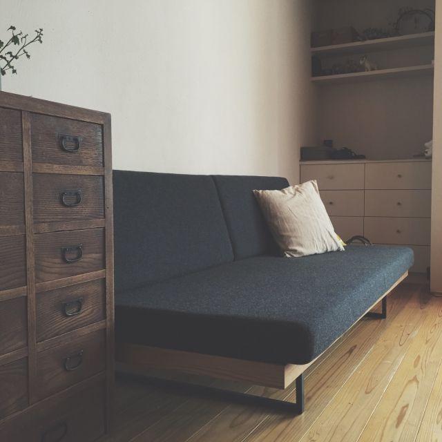 Sachiさんの、古道具 引き出し,造作家具,アンティーク,ソファ,リビング,のお部屋写真