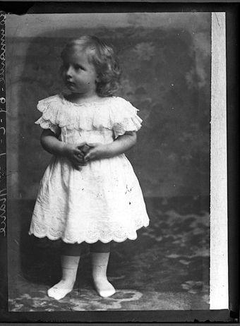 Prince Nicholas of Romania as a toddler.