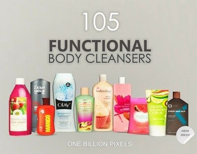 One Billion Pixels: 105 Functional Body Cleansers (Non Default Replacement) Compatible with Pets EP