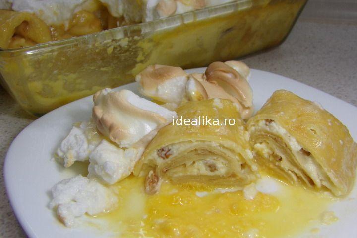 Delicioasele Clatite banatene transforma banalele clatite intr-un desert fabulos, rafinat si aspectuos pe care il putem servi oricand si la o masa festiva