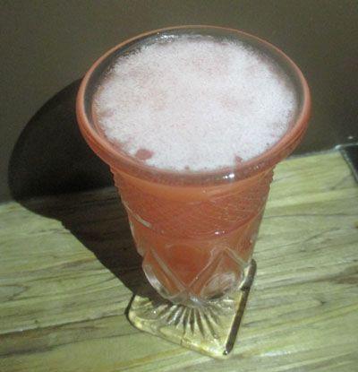 1 oz Four Roses Bourbon 1/2 oz Lemon Juice 1/2 oz Aperol 1/2 oz Luxardo Maraschino Liqueur 1/2 oz Tempus Fugit Crème de Violette