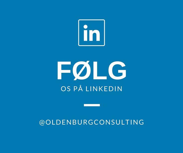 Er du på LinkedIn? Følg os og bliv en del af vores professionelle netværk.