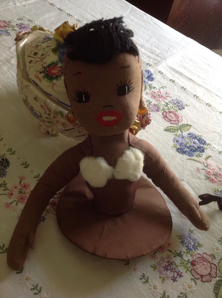 Clothes Being Washed ~ Vintage toaster cover half doll her clothes are being