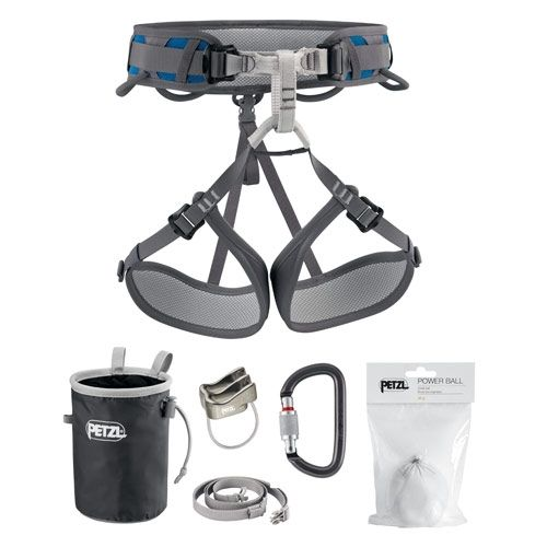 Harnesses : Petzl Corax Kit The CORAX kit offers a versatile, easy-to-use, comfortable harness for beginners, or for those wanting to progress in climbing, mountaineering or via ferrata. The kit also contains a belay system composed of an AM NEW PRICE 126,36 USD