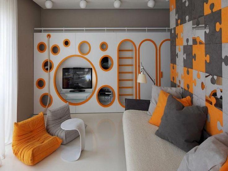 ... Modern Boys Room TV Set Cool Room Designs For Guys ...