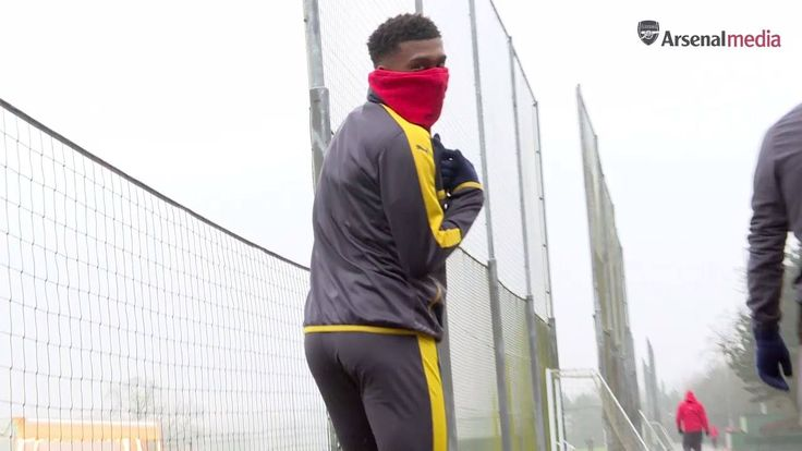 The lads warmed up for Hull City on a cold day at London Colney...