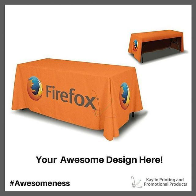 Communicate Your Brand Awesomeness™ with Custom Tablecloths.
