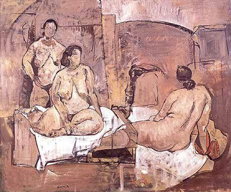 Atelier scene, 100x120, 2002