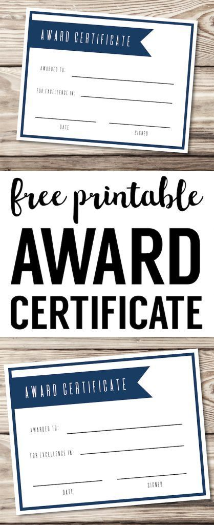 Free Printable Award Certificate Template. Editable, easy, basic, DIY award certificate for kids, teens, adults, work, sports, school. #papertraildesign #awards #ceremony #award