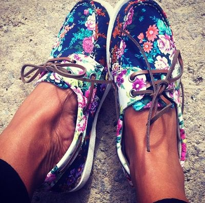 We love these gorgeous floral boat shoes. Perfect for working in Summer!