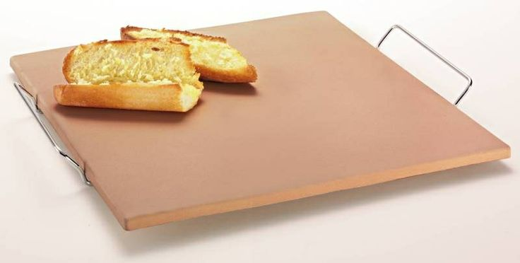 Pizza»Pizza Stone Rectangular 38x35.5cm With Rack - Chef's Complements