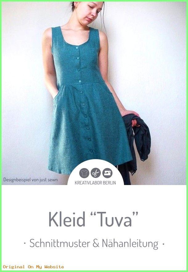 """Sommerkleider 2019: Schnittmuster & Nähanleitung für das Kleid """"Tuva"""" #schnittmuster #kleid…"""