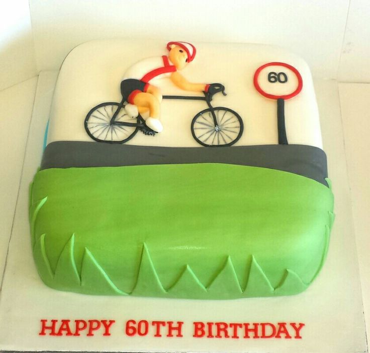Cyclist enthusiast cake.