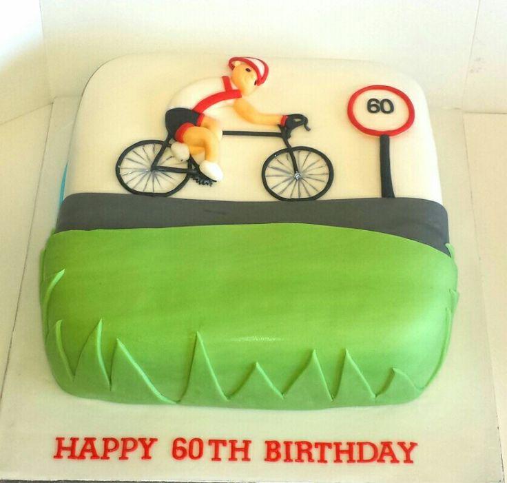 Cyclist enthusiast cake.