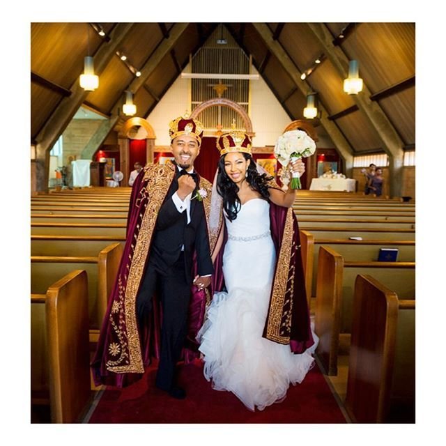 Habeshabrides Shoutout!! ❤️❤️❤️ Congratulations to Habeshabride Gelila who married her best friend ❤️❤️❤️ loving this adorable moment of the happy couple as the leave church photo courtesy of @zerga #habesha #wedding #bride #groom #orthodox #kaba #moments #candids #habeshabride #Habeshabrides #habeshawedding