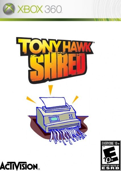 Tony Hawk Shred box art cover