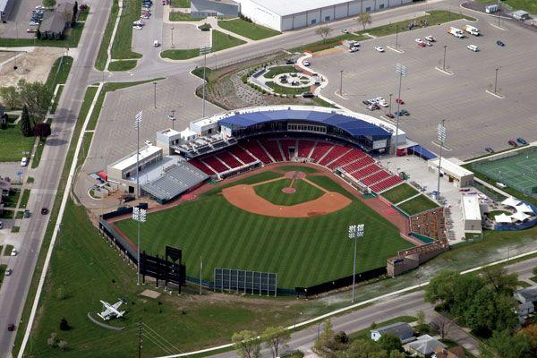 The Cedar Rapids Kernels, a class A affiliate of the LA Angels, play at Veterans Memorial Stadium