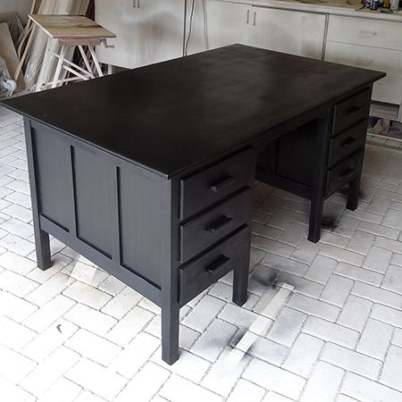 This Desk Was A Secondhand Find That Was Given A Rust Oleum Makeover For A.  Paint Ikea FurniturePainting ...