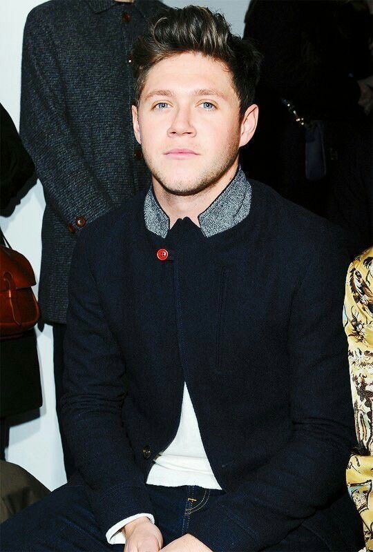 Niall Horan at the Oliver Spencer Men's Fashion Show. Brunette Niall is BACK!!!