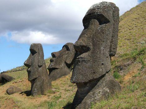 Découverte - Les mystèrieuses statues de l'île de Pâques.