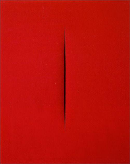 Lucio Fontana / concetto spaziale, Attesa, 1965.
