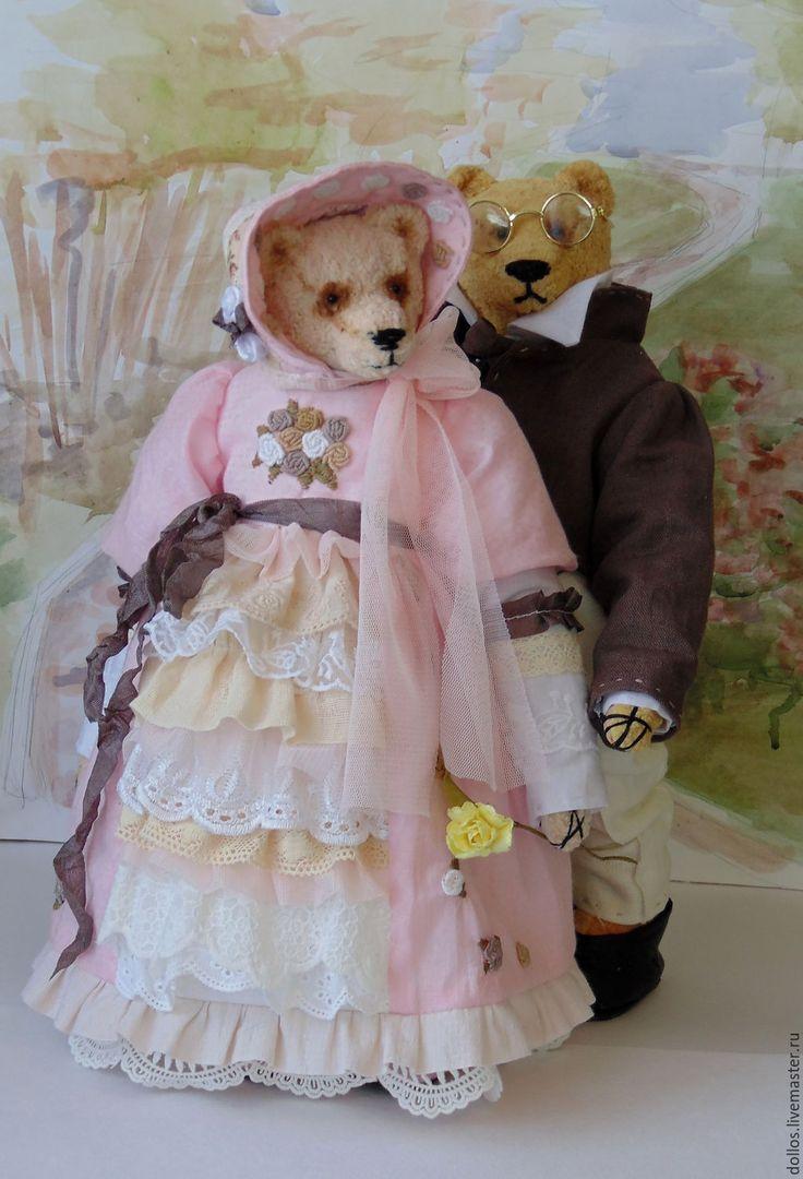 Купить повтор работы Пьер и Наташа - мишка, тедди, багет, винтаж, коллекционный мишка