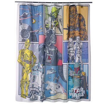 Star Wars Fabric Shower Curtain