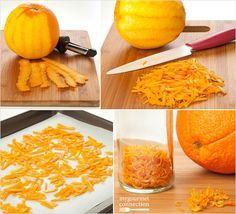 Make Your Own Dried Orange Peel