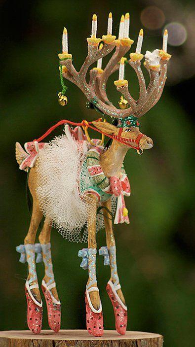 Patience Brewster Dancer Reindeer Ornament