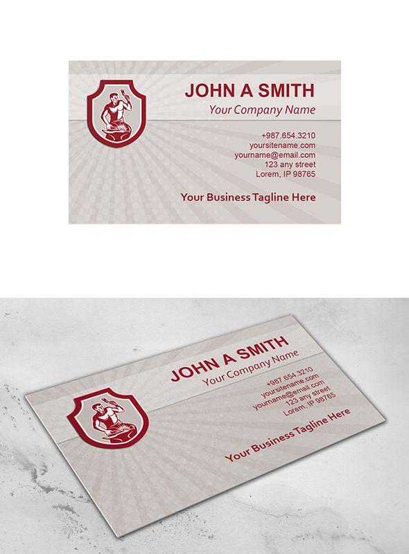 Business Card Template Blacksmith St