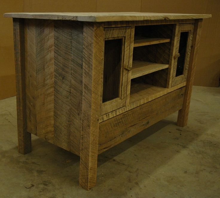 custom made rustic oak entertainment center